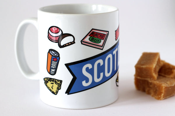 Scotland Junk Food Ceramic Mug