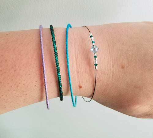Icey Costal bangle bracelet set of four - The Treasures of Time: reclaimed and handcrafted goods