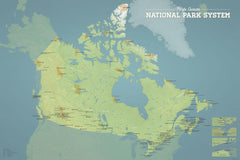Canadian National Parks Map Poster