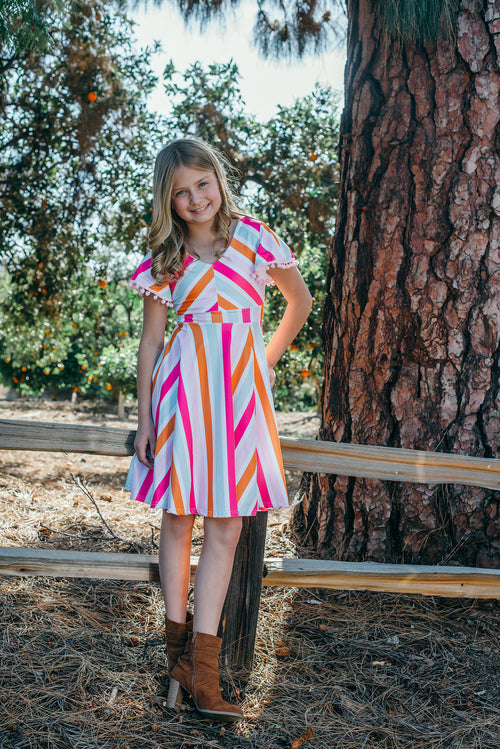 Sorbet Stripe Twirl Dress