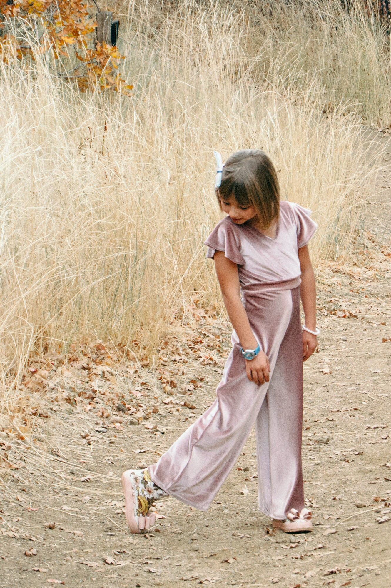Blush Velvet Jumpsuit