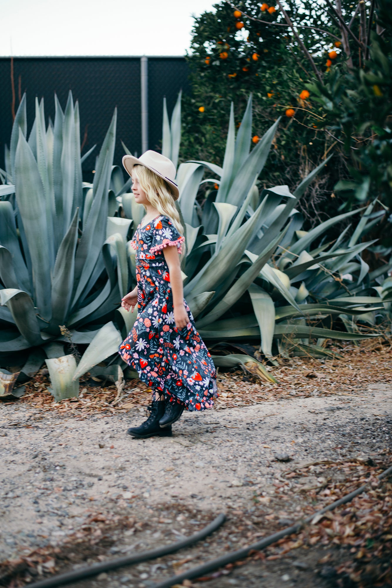 Strawberry Fields High-Low Maxi Dress