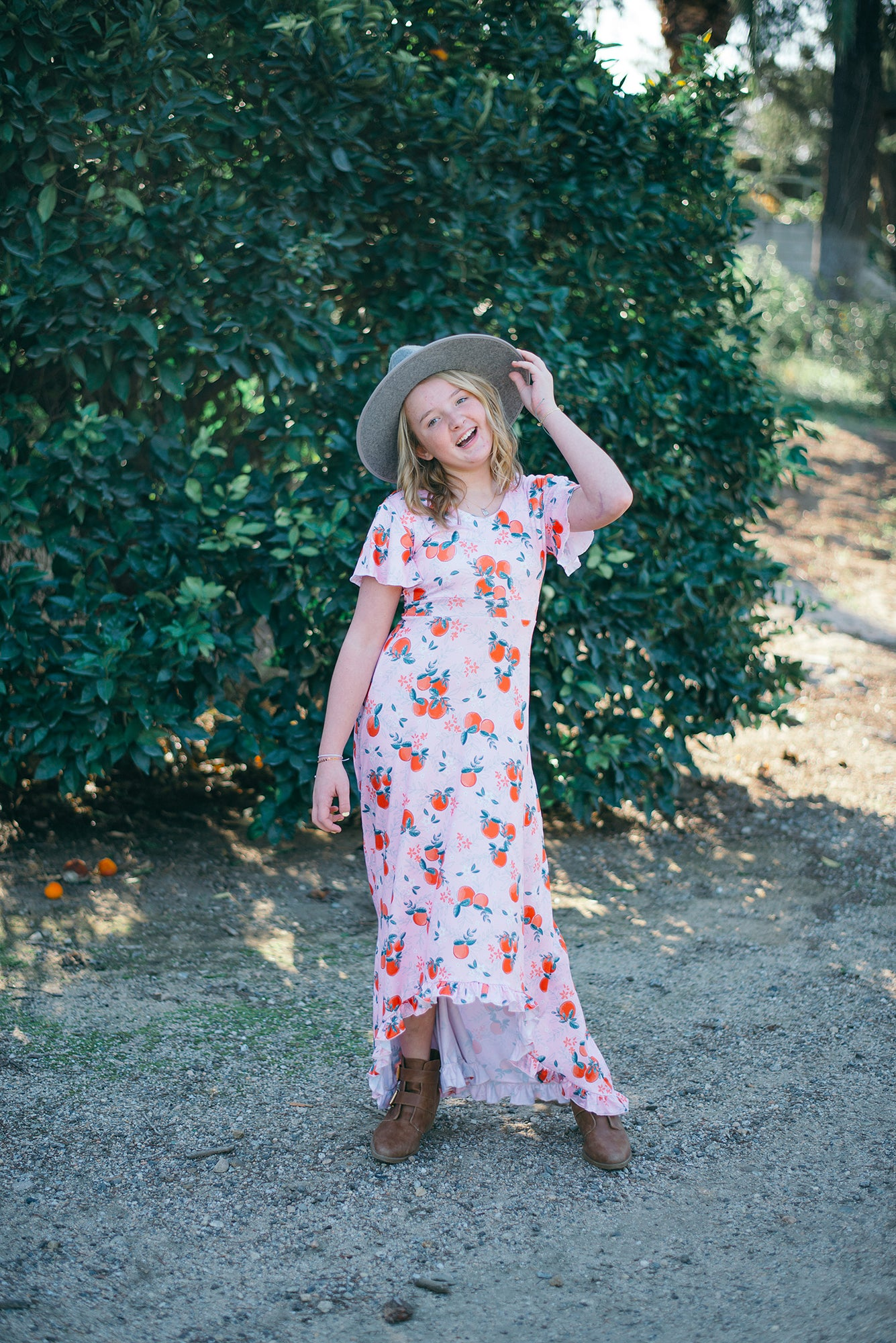 Sunkissed Citrus High-Low Maxi Dress