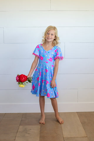Raindrop Polkadot Twirl Dress