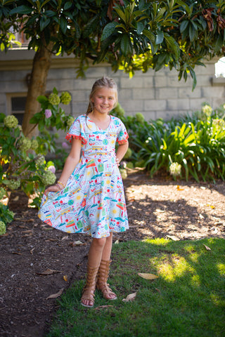 Dream Rainbow Twirl Dress