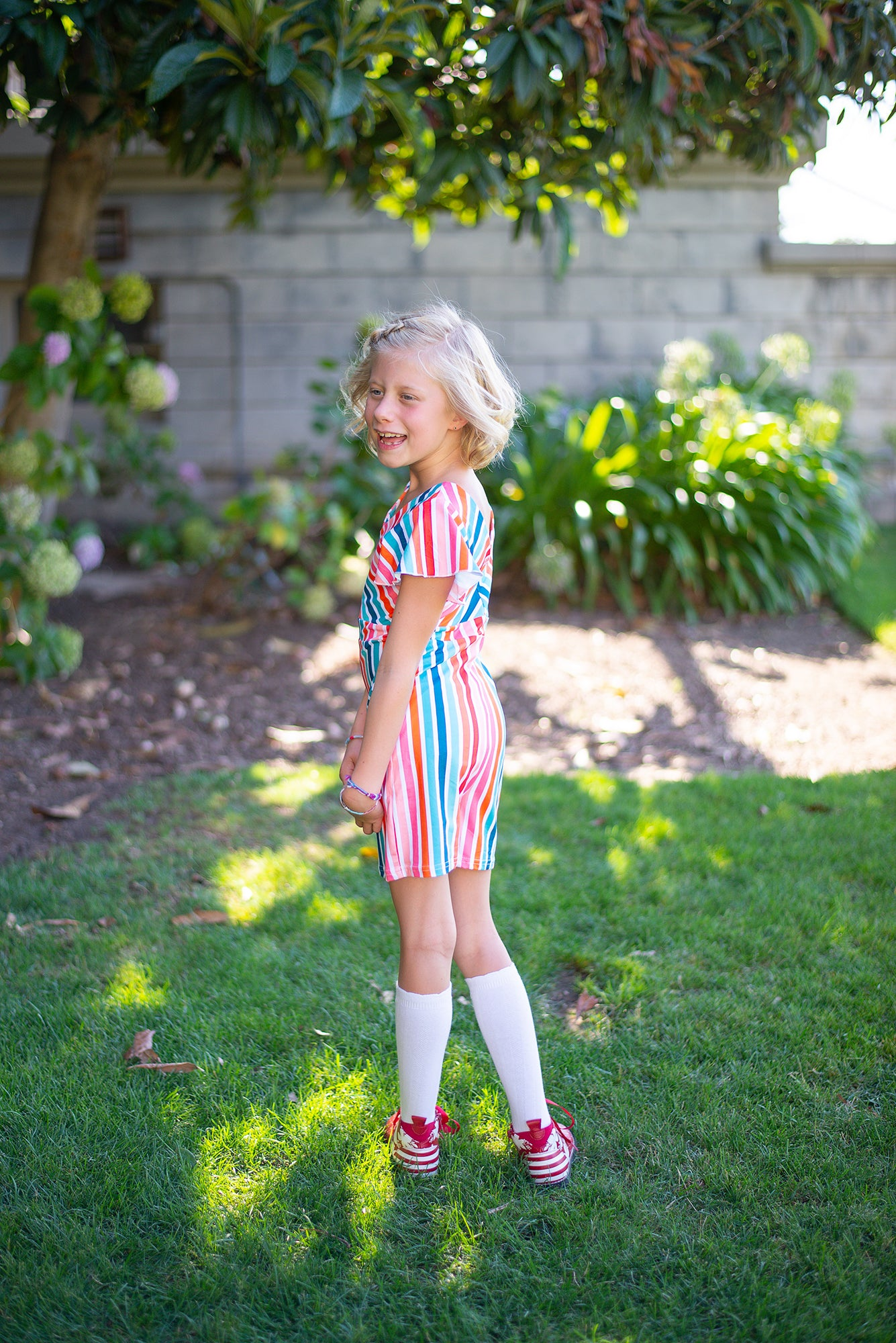 Rainbow Stripe Lounge Romper