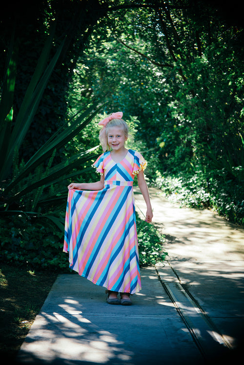 Frolic Stripe Maxi Dress