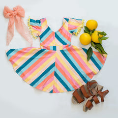 Frolic Stripe Twirl Dress