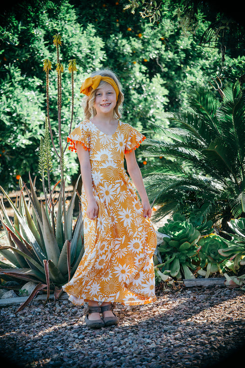 Callie Sunflower Maxi Dress