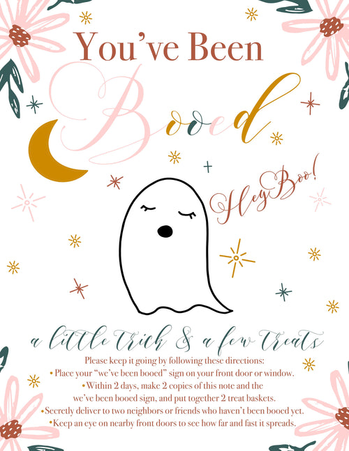 You've Been BOOED! Printable