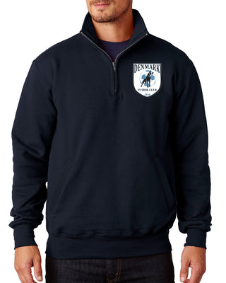 Denmark Quarter Zip Pullover - Navy with Dane Logo