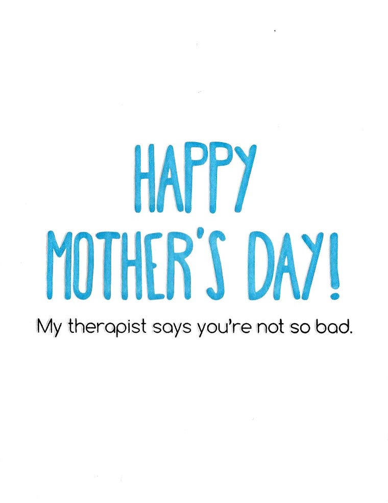 Therapist Mother's Day Card