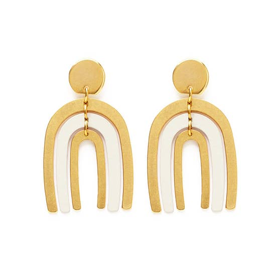 Arco Iris Earrings in Ivory
