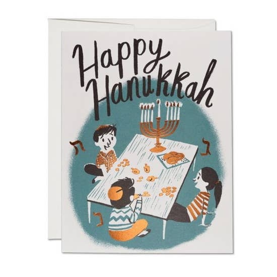Hanukkah Family Card