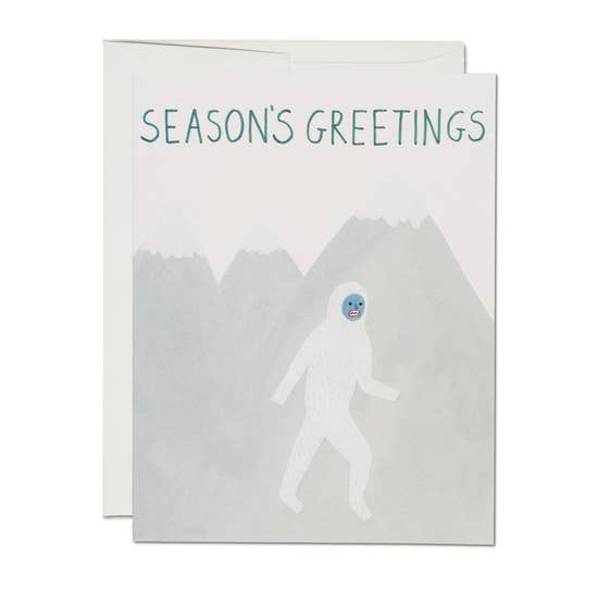 Seasons Greetings Yeti Holiday Card