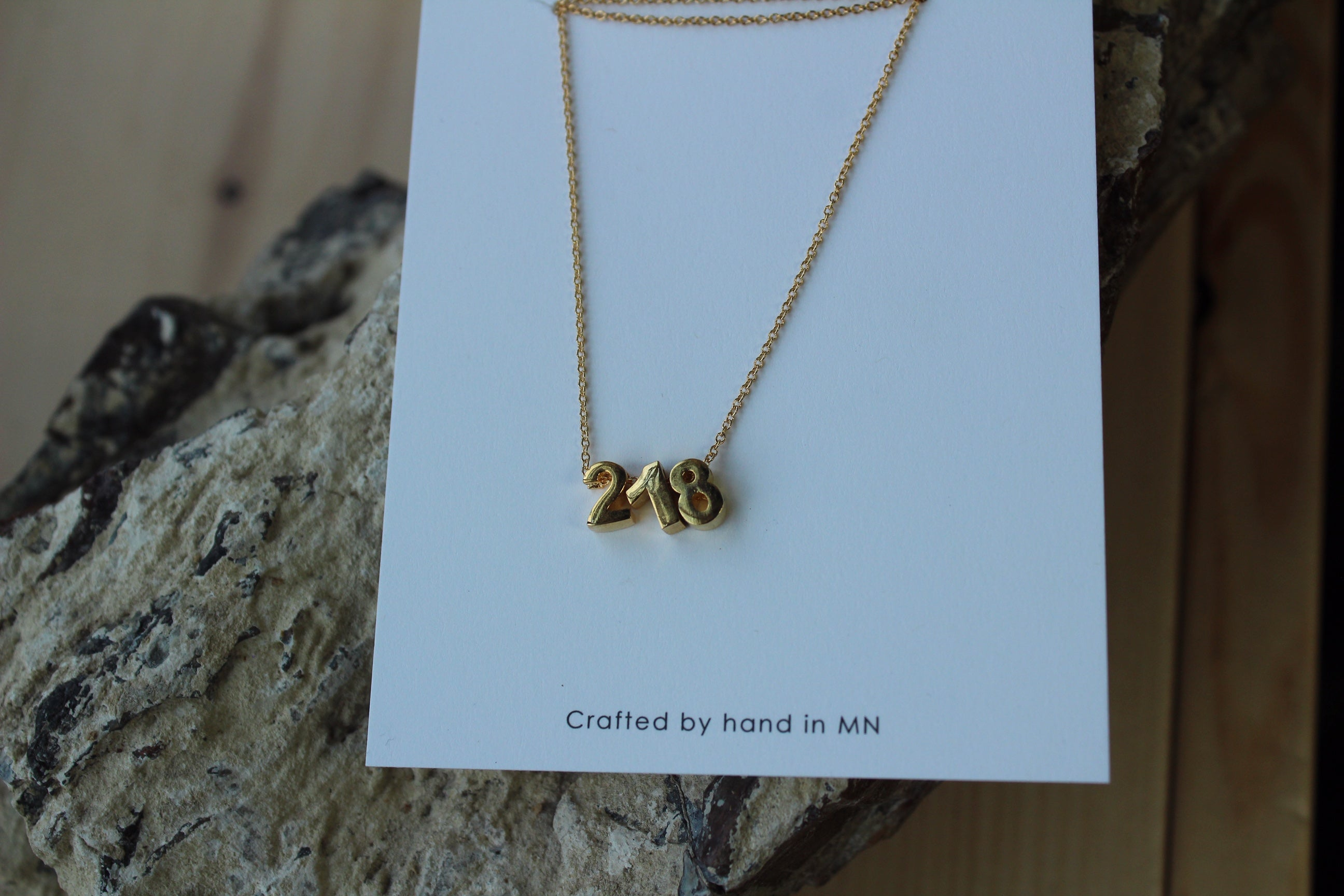218 Necklace | Silver Rhodium or 24K Gold Plated