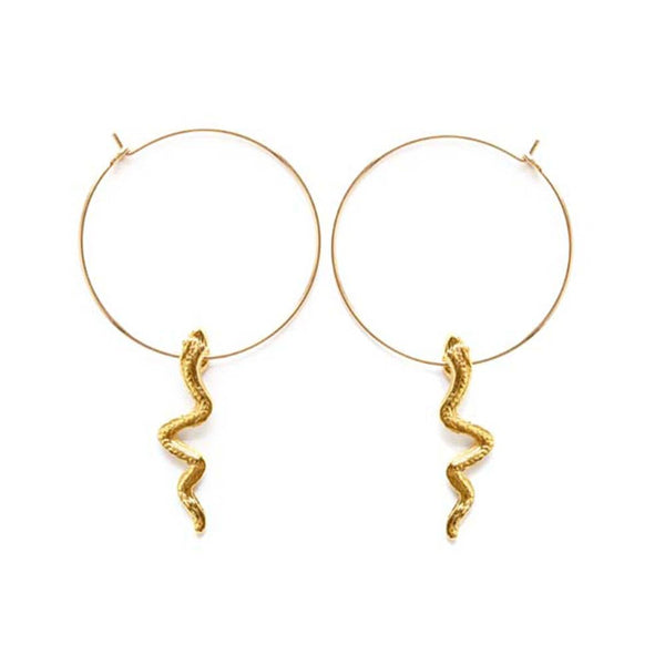 14k GF Serpent Hoops