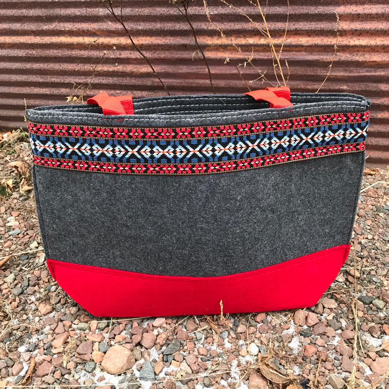 Red Thea Tote