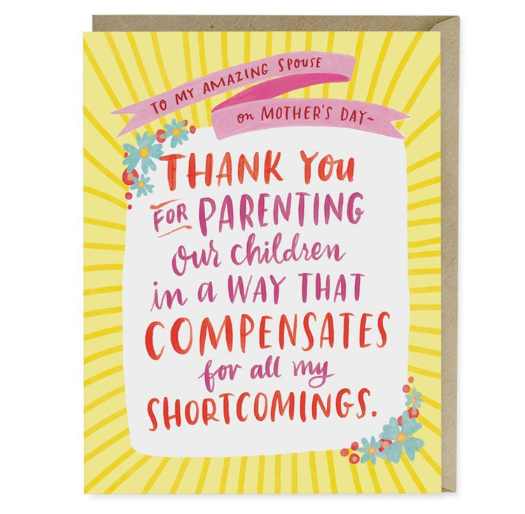 Parenting Shortcomings Mother's Day Card