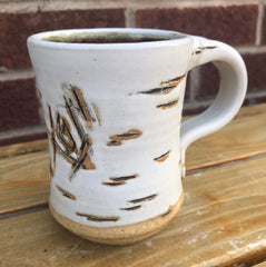 Ceramic Birch Mugs / White
