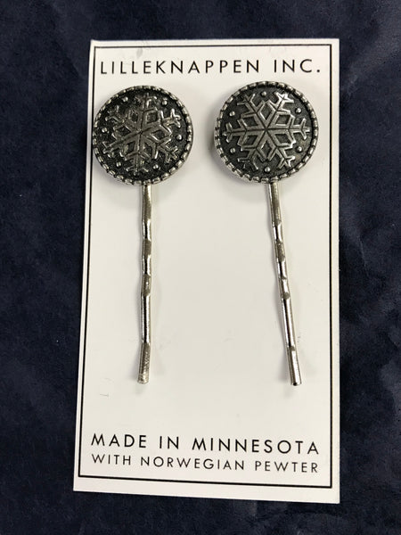 Norwegian Pewter Hair Pins - Double