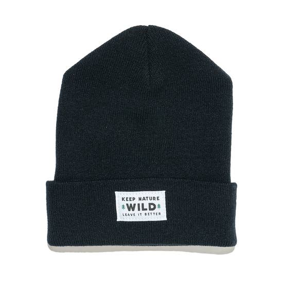 Twin Pines Cuffed Beanie | Midnight Black