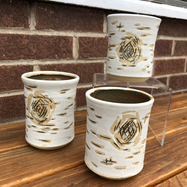 Ceramic Birch Tumbler / White