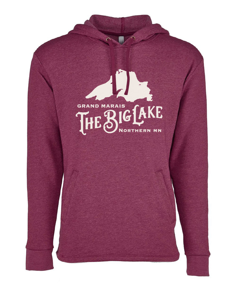Heather Maroon Big Lake Sweatshirt