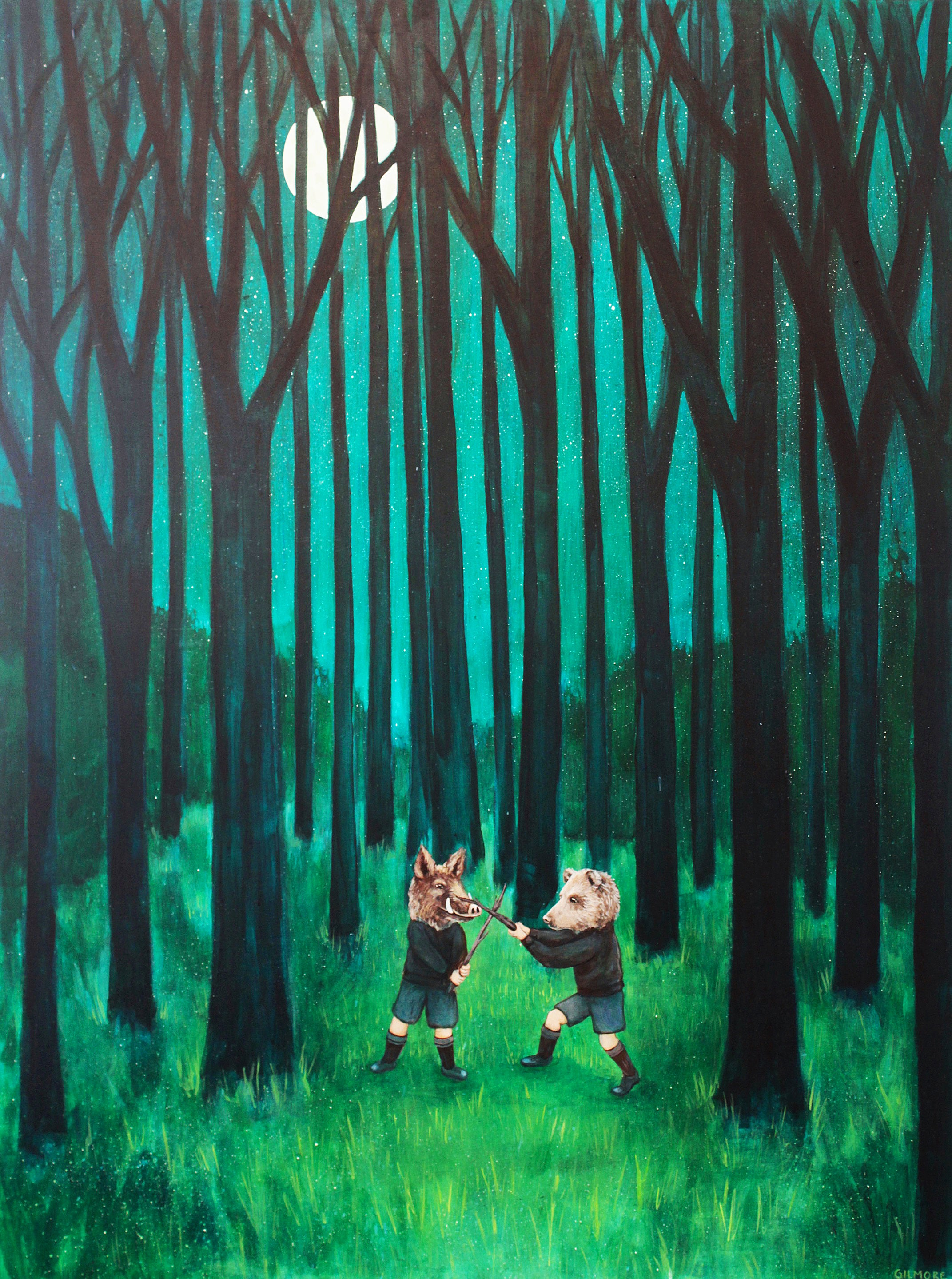 A Boar & Bear Battle In The Big Woods