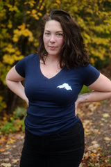 WMN's V-Neck Lady Superior: Navy