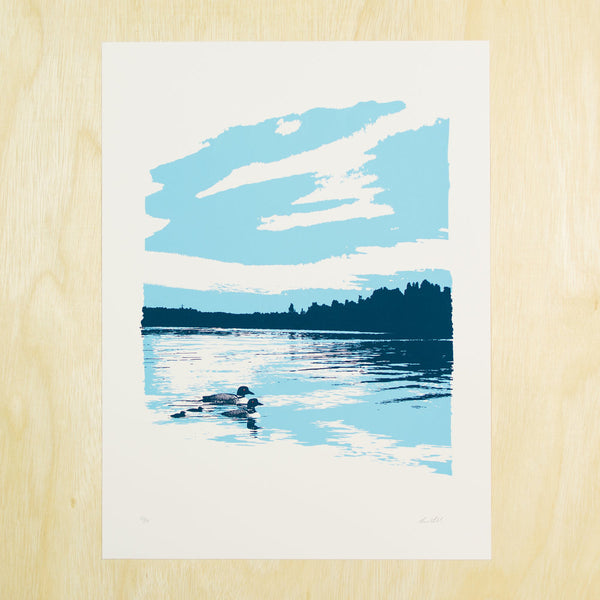 Loon Family Blue