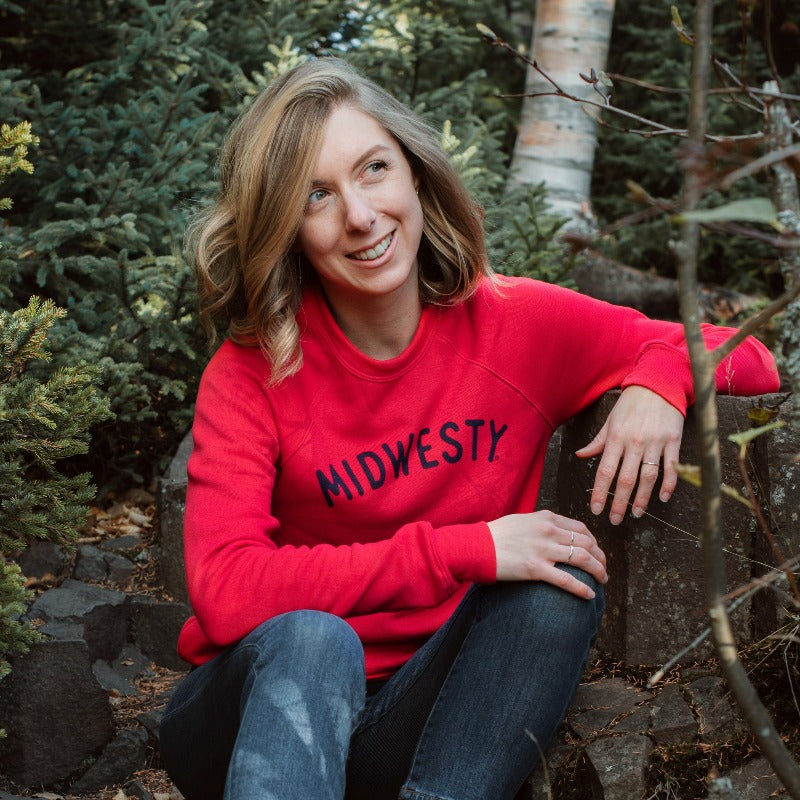 Midwesty | Red Crewneck Sweatshirt
