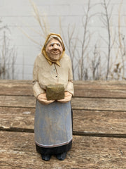 Woman with Gift Box Carving