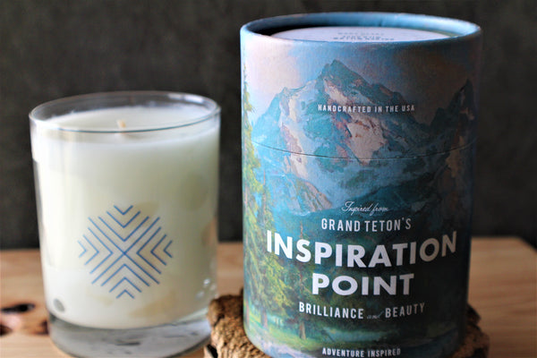 Grand Tetons Inspiration Point Candle
