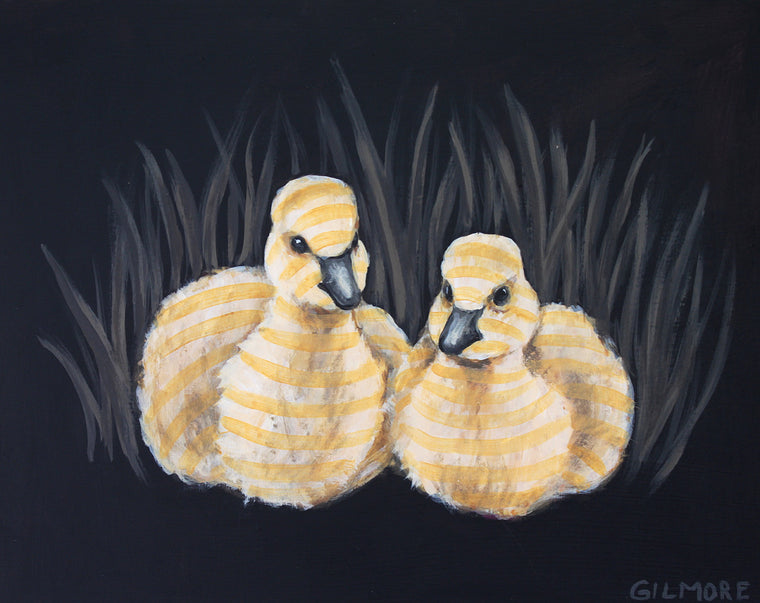 Golden Striped Goslings