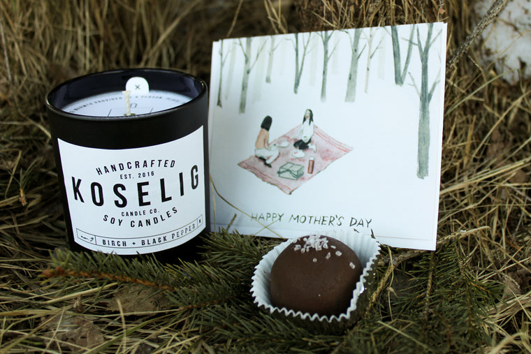 Candle, Truffle & Mother's Day Card Bundle