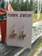 Dala Horse Earrings