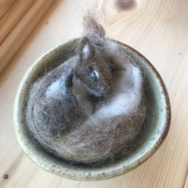 Felted Sleepy Squirrels