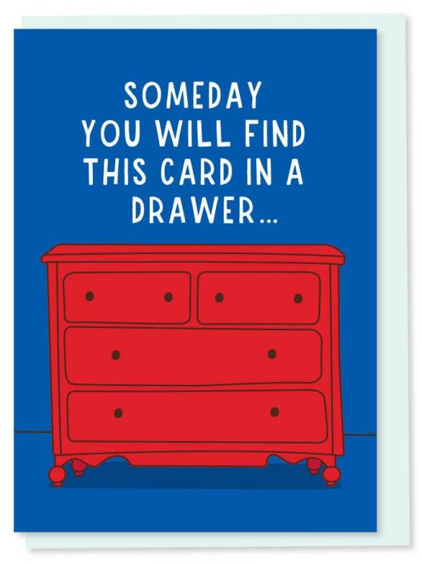 Dresser Drawer Card