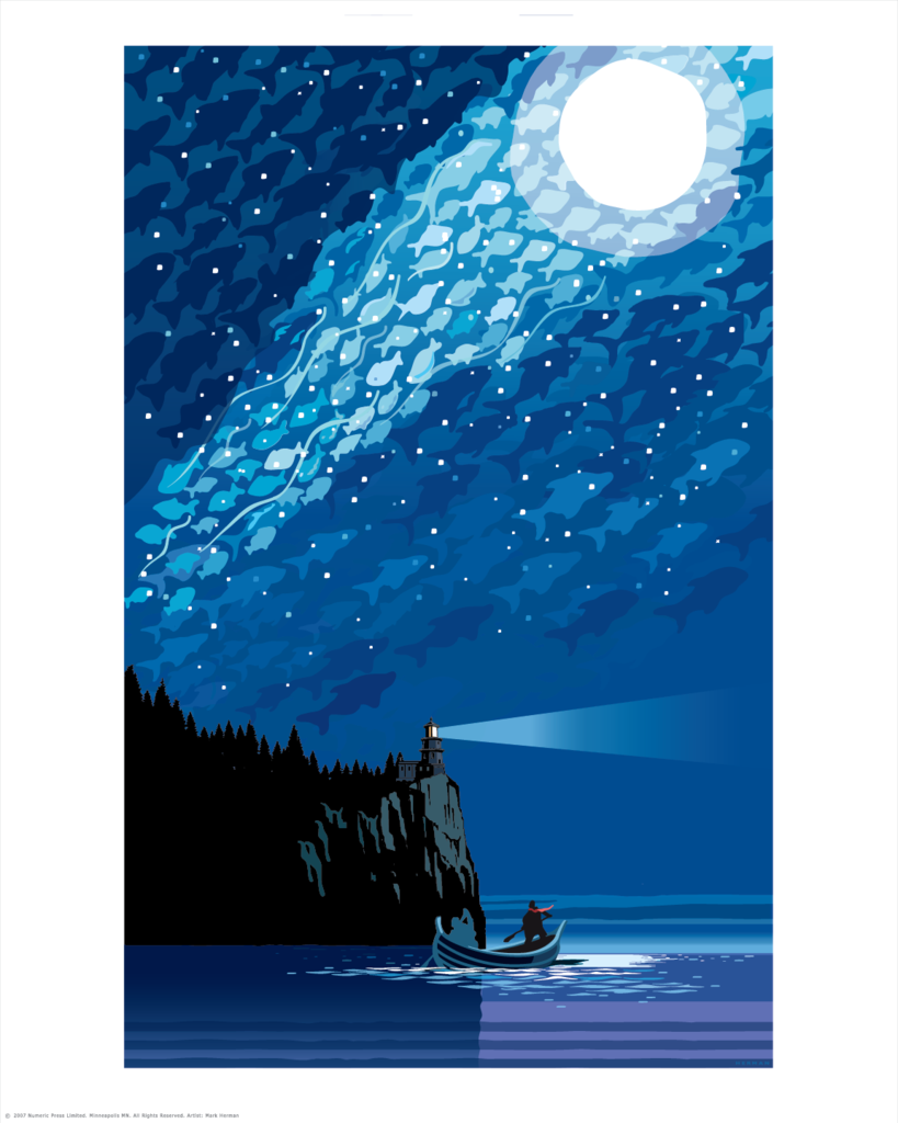 """MN Lake Superior Starry Night"" by Mark Herman"