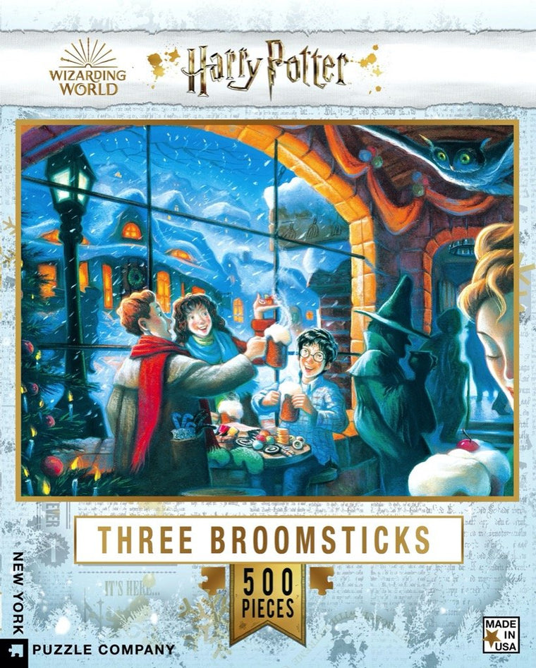 Three Broomsticks: 500 Piece Puzzle (Harry Potter)