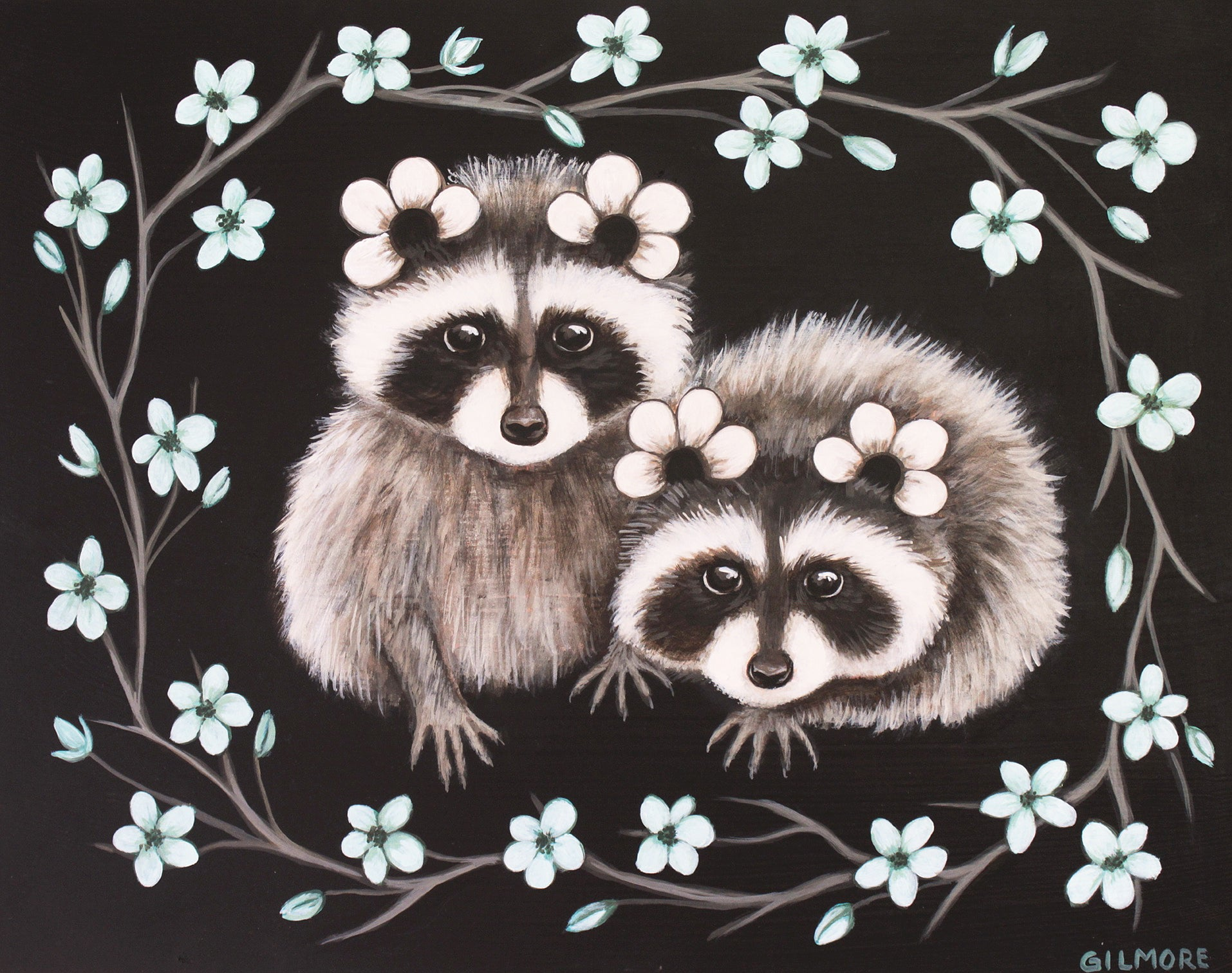 Petal-Eared Raccoon Cubs