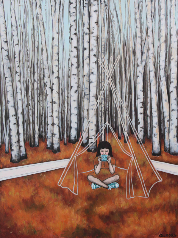 Tea With Tina In A Teepee - Limited Edition Print