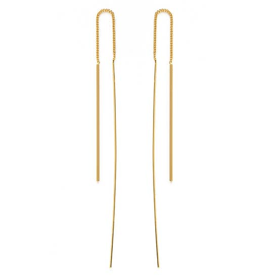 Needle and Thread Earrings in Gold or Silver  Sterling Silver Plate