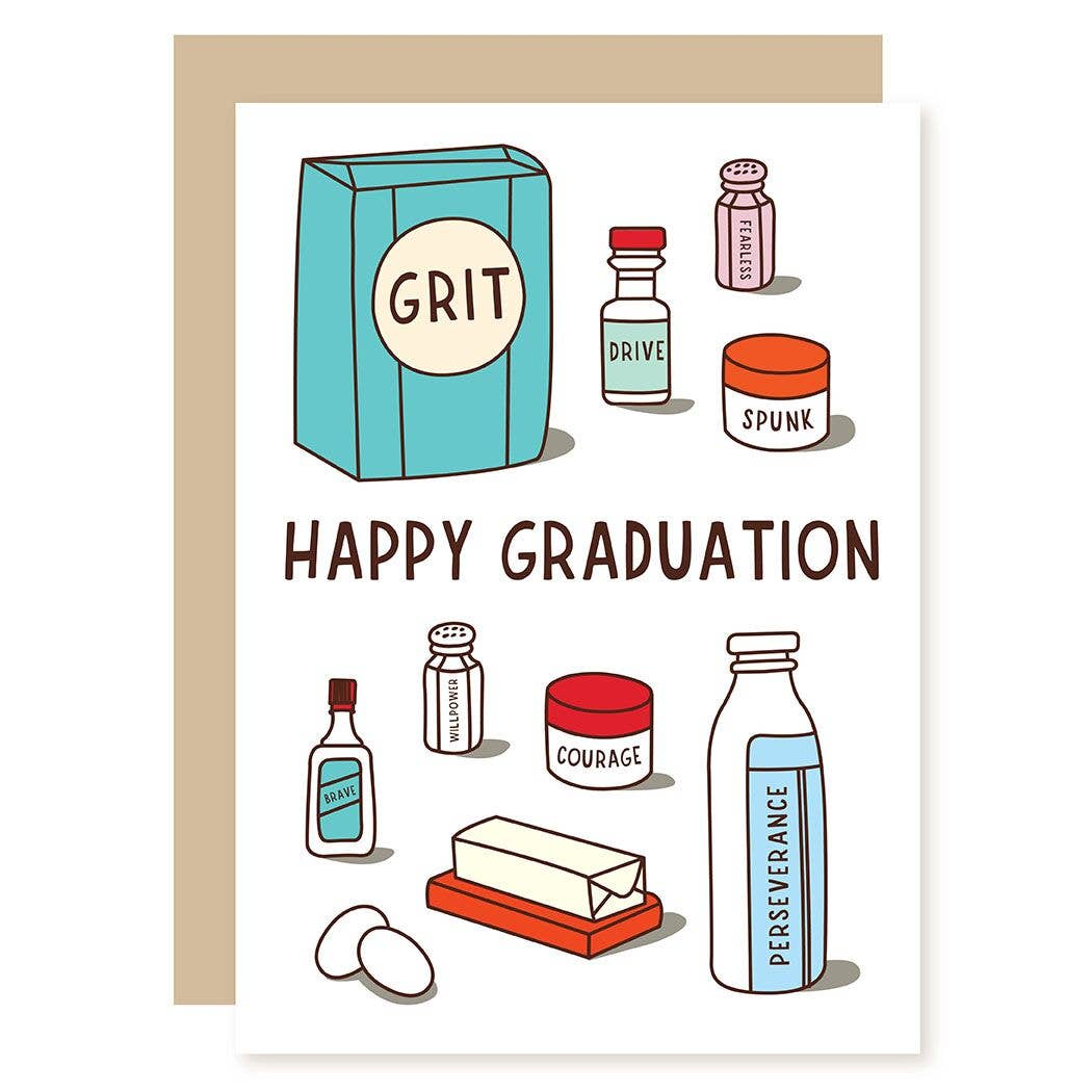 Ingredients Graduation Card