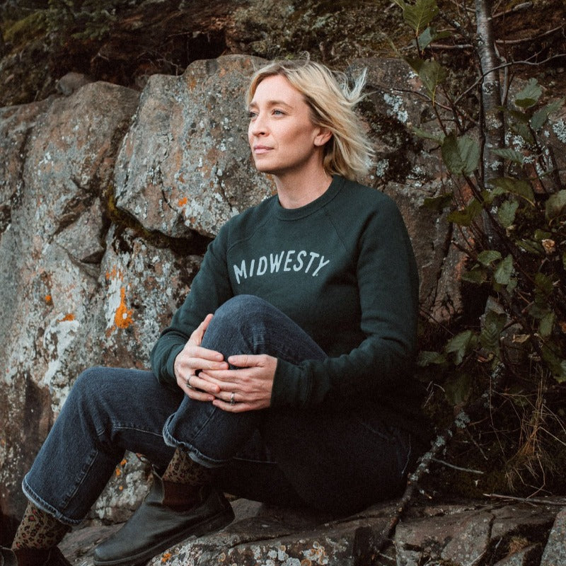 Midwesty | Green Crewneck Sweatshirt