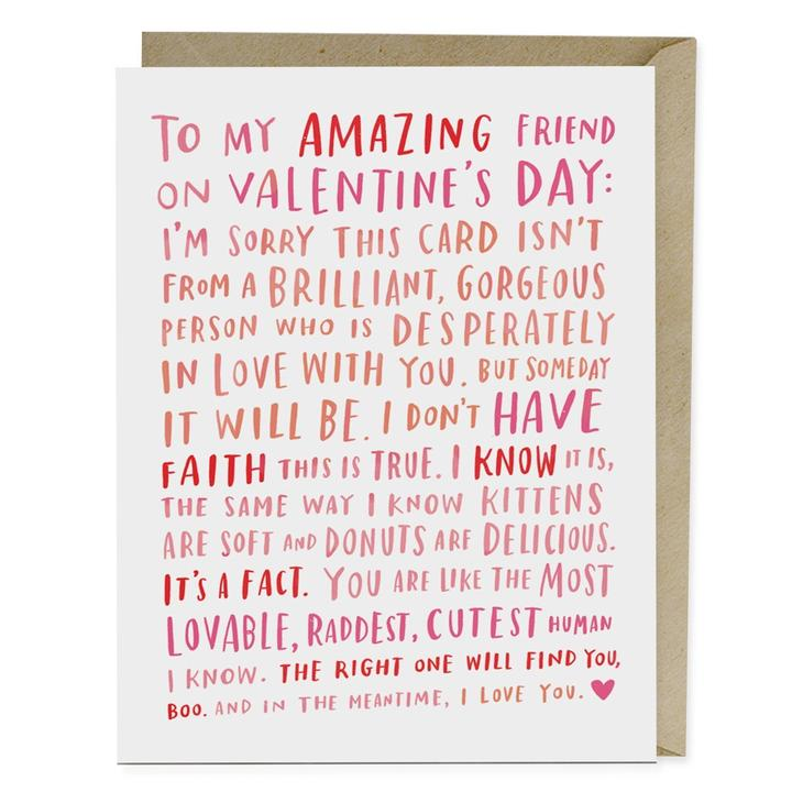 Amazing Single Friend Vday Card