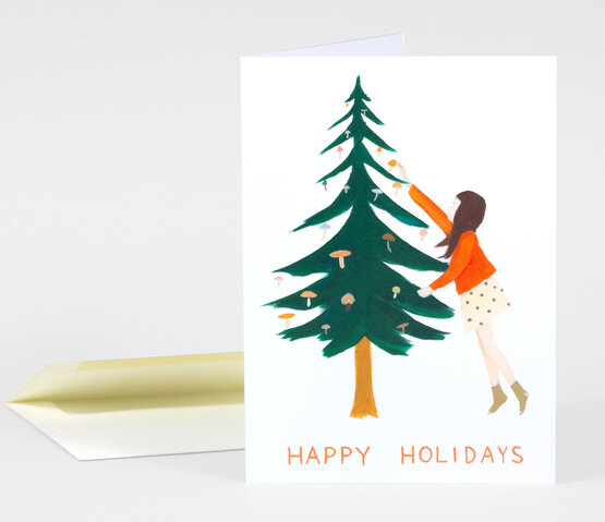 Happy Holidays Tree Card