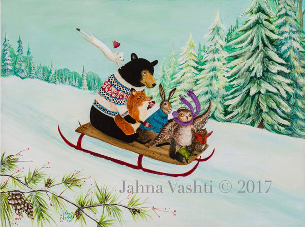 """A Wintry Tantivy"" by Jahna Vashti"