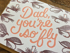 Dad So Fly Father's Day Card